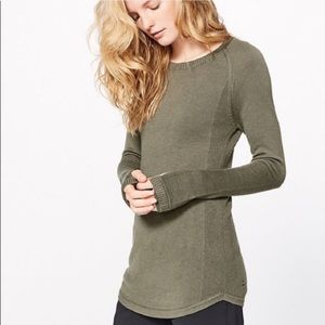Lululemon• Sunshine Coast Sweater Green A1